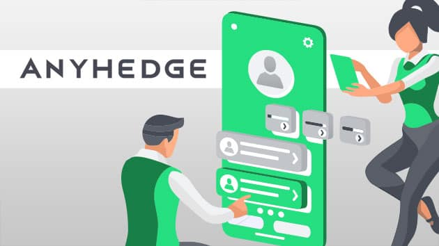 B2B fintech software brand we created for AnyHedge using a modern and friendly design style