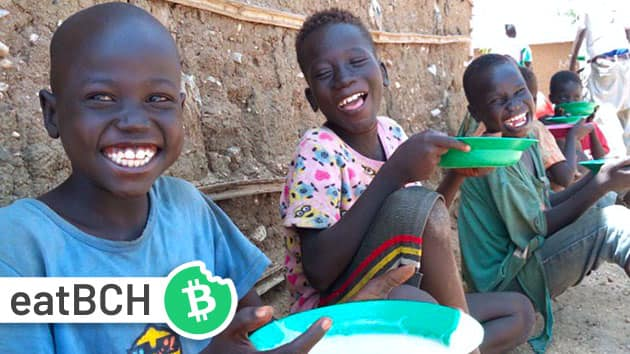 Happy African children that were fed by the charity whose website we designed