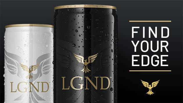Image and tagline from the Shopify website we created for an energy drink company
